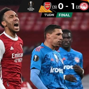 Arsenal perdió ante Olympiakos, pero avanzó a Cuartos de Final