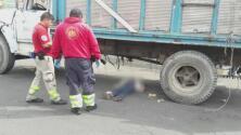 Camión de basura embistió a una joven en México y el chofer se dio a la fuga sin auxiliarla