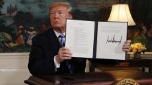 Trump anuncia la salida de EEUU del pacto nuclear con Irán y la reimposición de sanciones económicas