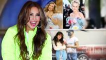 Thalía muestra que Ricky Martin y Sharon Stone copiaron sus 'looks' de 'Las Marías'