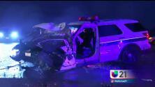 Vehículo de alguacil de Fresno involucrado en un accidente