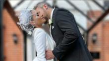 Wendy Braga lució como una princesa en su segunda boda en Inglaterra