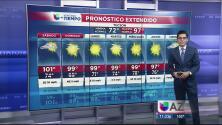 Altas temperaturas en este fin de semana con lluvias monzónicas al sur del estado