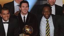 Pelé felicita a Lionel Messi por superar su récord de goles