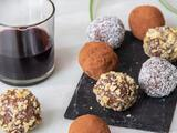 Trufas de chocolate y vino tinto  (4 ingredientes y en 20 minutos)