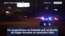 Un sospechoso es baleado por un dueño de hogar durante un presunto robo