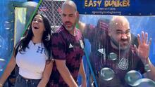 Honduras perdió contra México, pero Carla Medrano le ganó al Pelón y lo tiró sin piedad en el 'dunk tank'