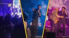 """(VIDEO) """"Va a subirse conmigo"""": Christian Nodal defiende a fan de la tercera edad y la sube al escenario"""