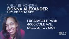 Organizan vigilia para recordar a la empresaria Donna Alexander