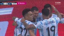 ¡Cabezazo letal! Messi asiste y Guido Rodríguez pone el 1-0 de Argentina