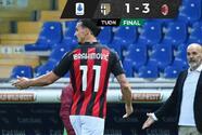 Pese a la expulsión de Ibrahimovic el Milan derrotó al Parma