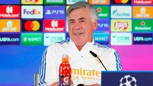 Ancelotti no admitirá si se equivoca; ilusión por el Bernabéu