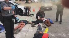 Violento arresto de ocho personas en una manifestación afuera de ICE en Portland