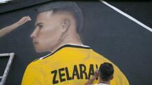 El impresionante mural para Lucas Zelarayán
