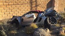 Javier Cortés sufre accidente automovilístico