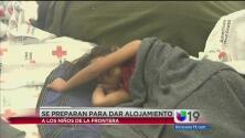 Se preparan para alojar a menores detenidos en la frontera