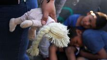 Fiebre, gripa y cansados: la situación de niños en la caravana de migrantes en México