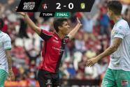 Atlas sigue con buen paso y derrota 2-0 a León para ponerse tercero