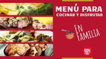 Menú para cocinar con los niños y festejar el Día Nacional de la Familia