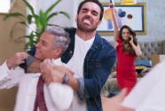 Martín y Sergio volvieron a golpearse y Julieta detuvo la pelea con una pistola