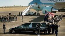 Trasladan a Washington DC el féretro de George H. W. Bush para las honras fúnebres