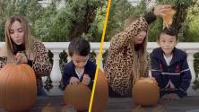 Como niña chiquita: La Bronca y Luca hicieron sus tradicionales calabazas para Halloween (y 'El Ojitos' no pudo faltar)