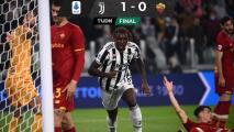 Juventus venció a la Roma y sumó su cuarta victoria en fila