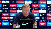 Ronald Koeman no pone excusas en un Barcelona sin Messi