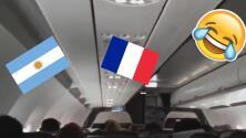 Piloto chileno trolleó en pleno vuelo a los argentinos por su derrota ante Francia