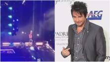 Este famoso cantante se dio tremendo golpe al caer del escenario