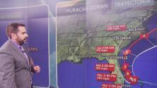 Albert Martínez nos muestra la trayectoria actualizada del huracán Dorian y las zonas que están en mayor riesgo