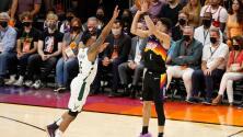 Suns toman ventaja de 2-0 en las Finales ante Bucks