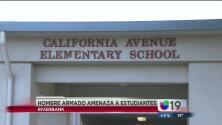 Un hombre amenaza con arma de fuego a estudiantes de primaria
