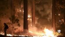 Vientos fuertes dificultan la lucha contra el incendio Caldor en South Lake Tahoe