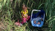 Abandonados en el Río Grande: encuentran a un bebé de 3 meses y su hermana de dos años