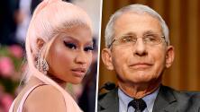 """""""Debería pensarlo dos veces"""": Dr. Fauci desmiente a Nicki Minaj sobre la impotencia sexual por la vacuna del covid"""