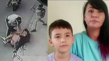 """Le estaba robando"": niño es viral tras golpear a un asaltante con un paraguas por salvar a su mamá"