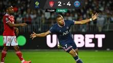 Aún sin Messi y con Di María luciendo, el PSG goleó al Brest