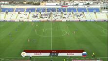 Resumen del partido Chipre vs Rusia