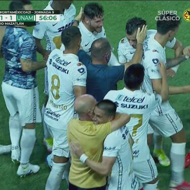 ¡Ya rugieron! Pumas consigue el empate 1-1 con ayuda de Dinenno
