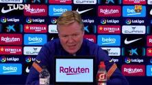 """Koeman: """"A Messi le cuesta no ganar todos los partidos"""""""
