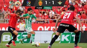 Con Guardado y sin Lainez, el Betis rescata empate ante Mallorca
