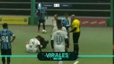Brutal entrada de un defensa deja lesionado a un rival…y a un compañero