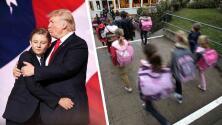 Trump insiste en la reapertura de las escuelas y críticos le piden que también envíe a su hijo