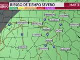 Tormentas severas: pronostican fuertes lluvias el martes en Carolina del Norte