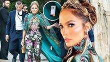 JLo no quitó la etiqueta del precio a su 'outfit' Dolce & Gabbana y los paparazzi expusieron su desliz