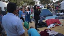 Este es el ambiente que se vive dentro de uno de los albergues donde se alojan los migrantes en Tijuana