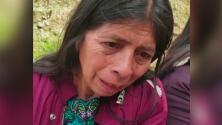 Entre lágrimas, madre pide que busquen a su hijo desaparecido tras derrumbe de montaña