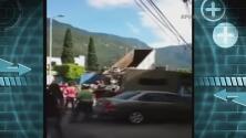 Vacían un camión de basura frente a la alcaldía de Veracruz