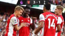 Arsenal brinda un gran duelo y vence al Tottenham
